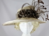 Elena Lewis Cream and Brown Events Hat